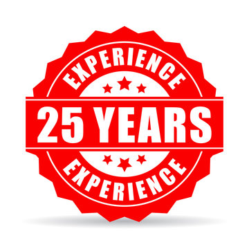 25 years experience vector icon