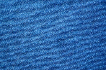 Blue demin fabric texture background.
