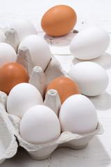 Eier Schachtel Eierschachtel Ei Hochformat Holzbrett Essen