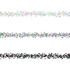 Dot pattern page divider line design set - vector design elements from multicolored circles