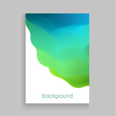 Vibrant template with abstract multicolored fluid paints  background - eps10 vector illustration