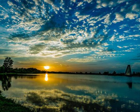 Sugarland Sunset Reflection