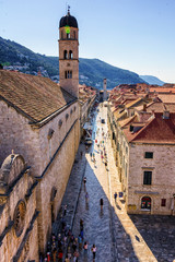 Blick auf die Stradun in Dubrovnik am Morgen