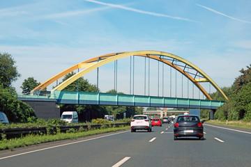Bahnbrücke auf Autobahn 2 in Beckhausen Gelsenkirchen