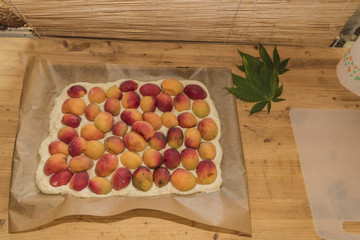 Before baking of marijuana apricot cake