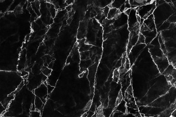 Black marble texture with natural pattern for background