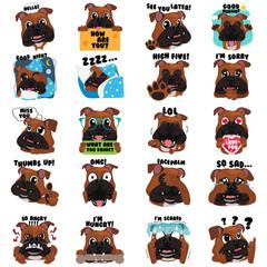 Bulldog Dog Emoji Emoticon Expression