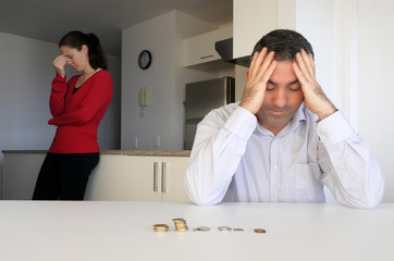 Hosband and wife having financial problems