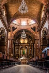 inside of a Catholic Church in San Miguel de Allende,Mexico