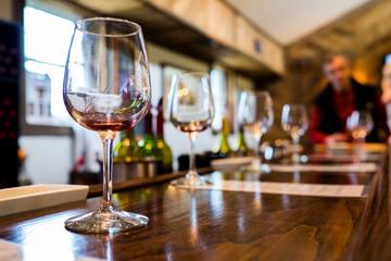 Tasting bar at a winery