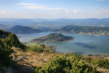 Lac du Salagou Hérault, Occitanie - France