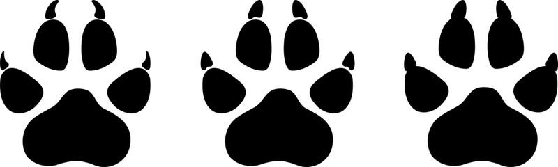 Wolf Pfote, Hunde Pfote, Aufkleber Label, Logo
