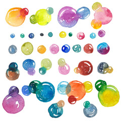 Watercolor bubbles collection