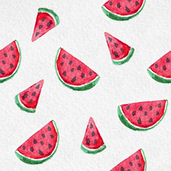 watermelon watercolor pattern on the textured paper
