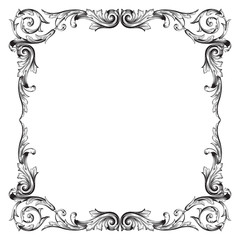 Vintage baroque ornament element