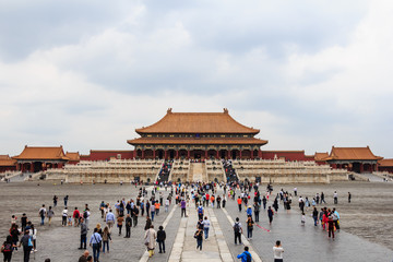 Papiers peints Pekin Central hall of The Forbidden City in Beijing, China