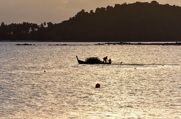 Fisherman silhouette in Thailand