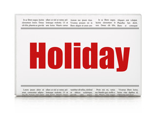 Holiday concept: newspaper headline Holiday