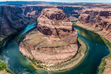 Gorge Horseshoe - the bend of the Colorado River in the Grand Canyon. City of Page, Arizona