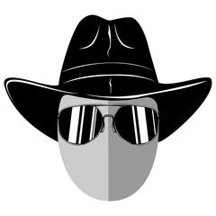 cowboy hat sunglasses var 1