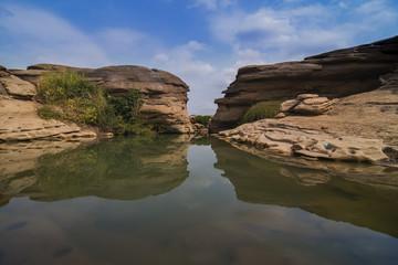 Thailand grand canyon (sam phan bok) at Ubon Ratchathani, Thailand