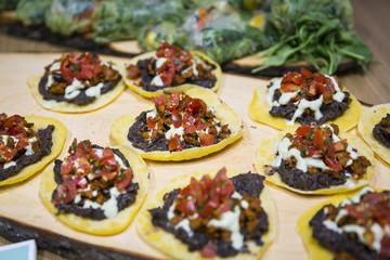 Catering / Mexikanische Tacos mit Salsa