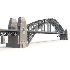Canvas Prints Bridge Sydney Harbour Bridge on white. 3D illustration