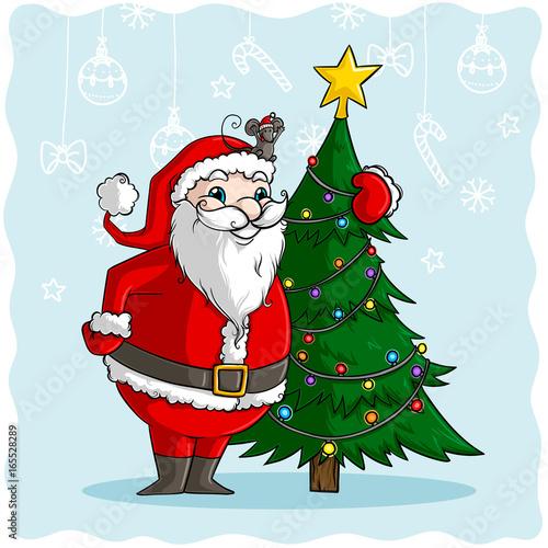 Comic Weihnachtsmann Vektor Stockfotos Und Lizenzfreie