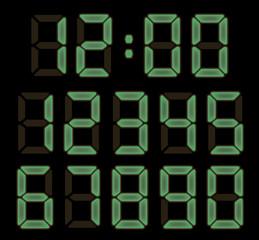 electronic watch font