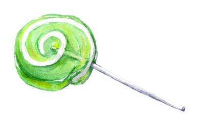 Lollipop. Watercolor candy