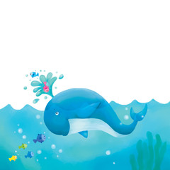 Cartoon Cute Whale