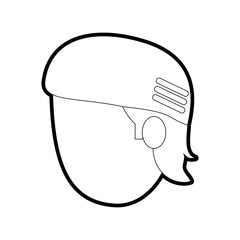 man head vector illustration