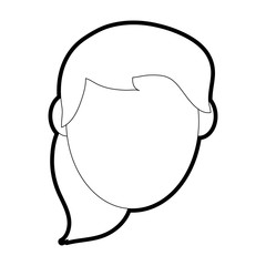 woman head vector illustration