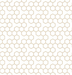 vector geometric hexagon seamless pattern background
