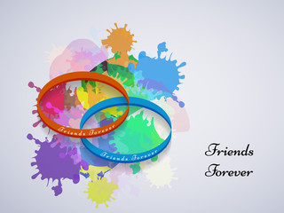 illustration of elements of Friendship Day Background