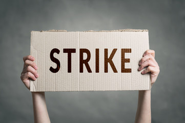 Workers going on Strike