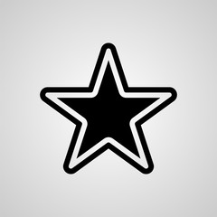 Vector star icon illustration. Template for design