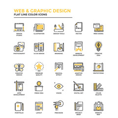 Flat Line Icons- Web and Graphic Design