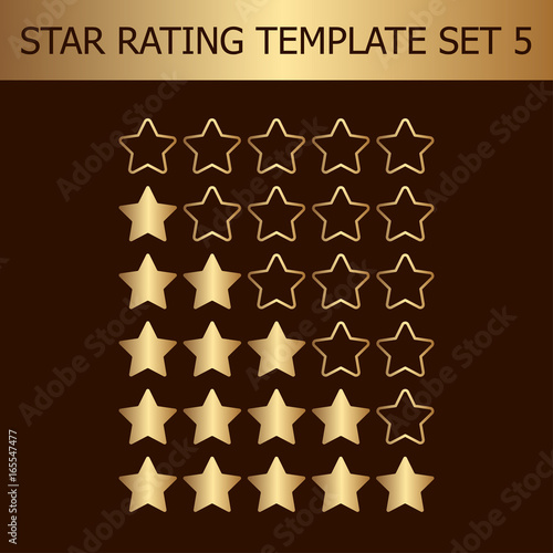 Vector Star Rating Assessment Illustration With Golden Gradient