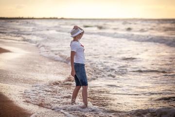 Woman on sea