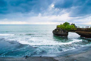 Tanah Lot Temple on the cliff, Uluwatu Bali