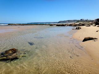 Waterfront scene of Newcastle, NSW Central Coast Australia.