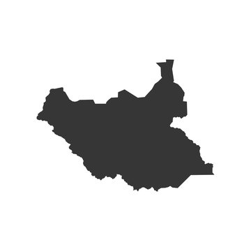 South Sudan map outline