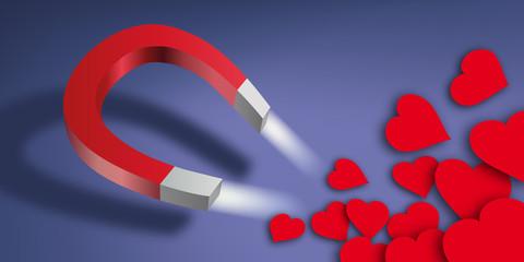aimant - cœur - amour - célibataire - site de rencontre
