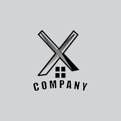 real estate logo a letter