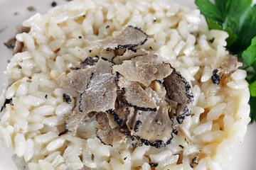 risotto al tartufo - closeup