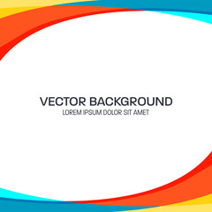 Colorful Wavy Vector Background with Flat Color Style