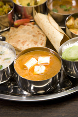 Cheese Cooked in a Creamy Sauce, Indian Dish