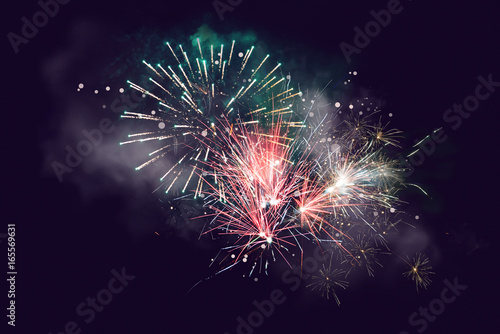 """Rainbow Fireworks Celebration Colorful Abstract Image With: """"Abstract Background. Fireworks Circle Blur. Colorful In"""