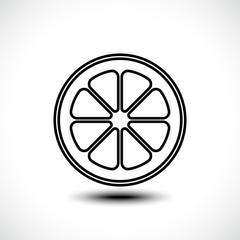 Vector illustration of lemon, orange, lime, grapefruit slice on white background